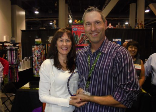 Andrew Kalan of Kalan LP and Bonnie Shimrat of National Design were photographed with the Partnership/Friendship Award.
